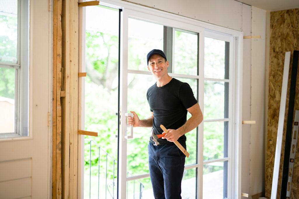 glass door frame replacement