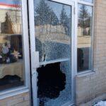 shattered storefront window repair